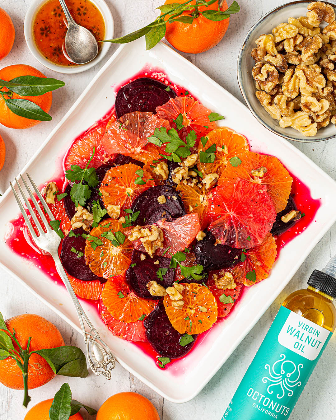 Citrus Beet Salad with Octonuts Walnut Oil Dressing