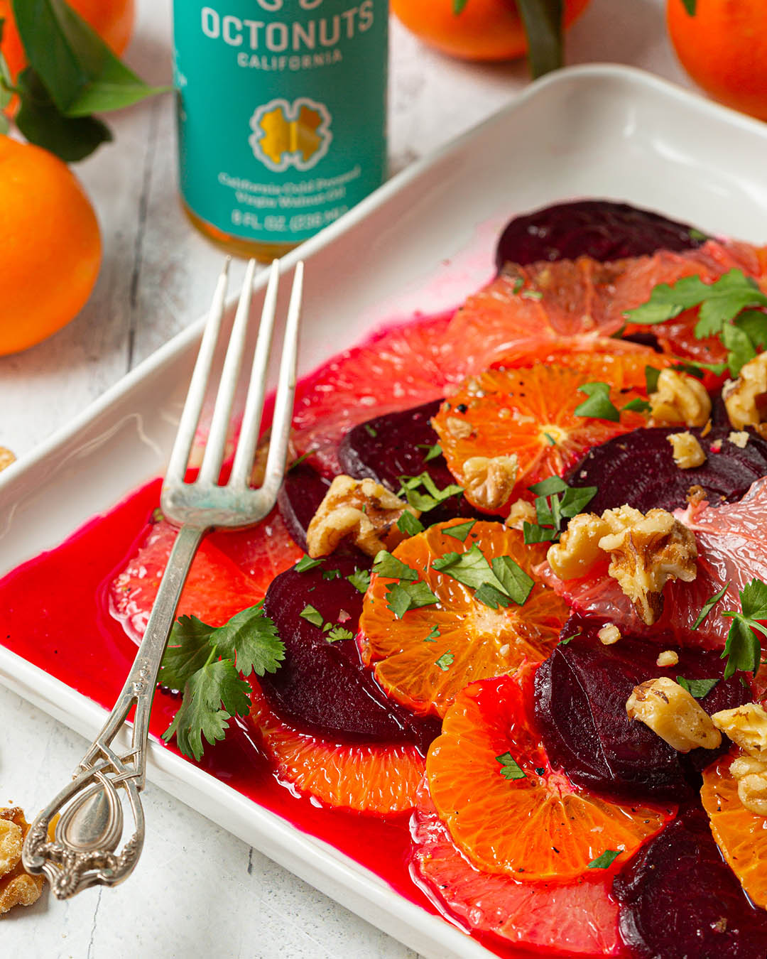 Beet and Citrus Salad with Champagne Walnut Oil Dressing