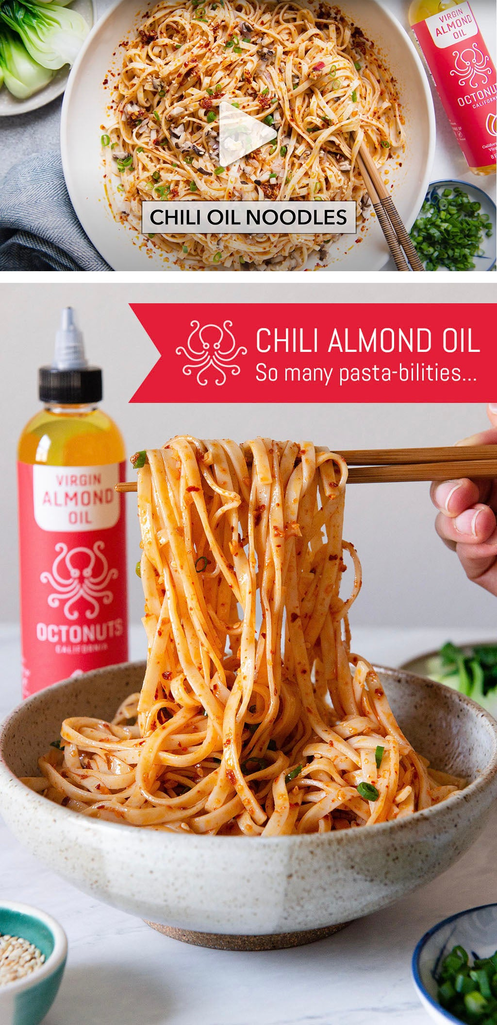 Octonuts Chili Almond Oil Noodles Recipe