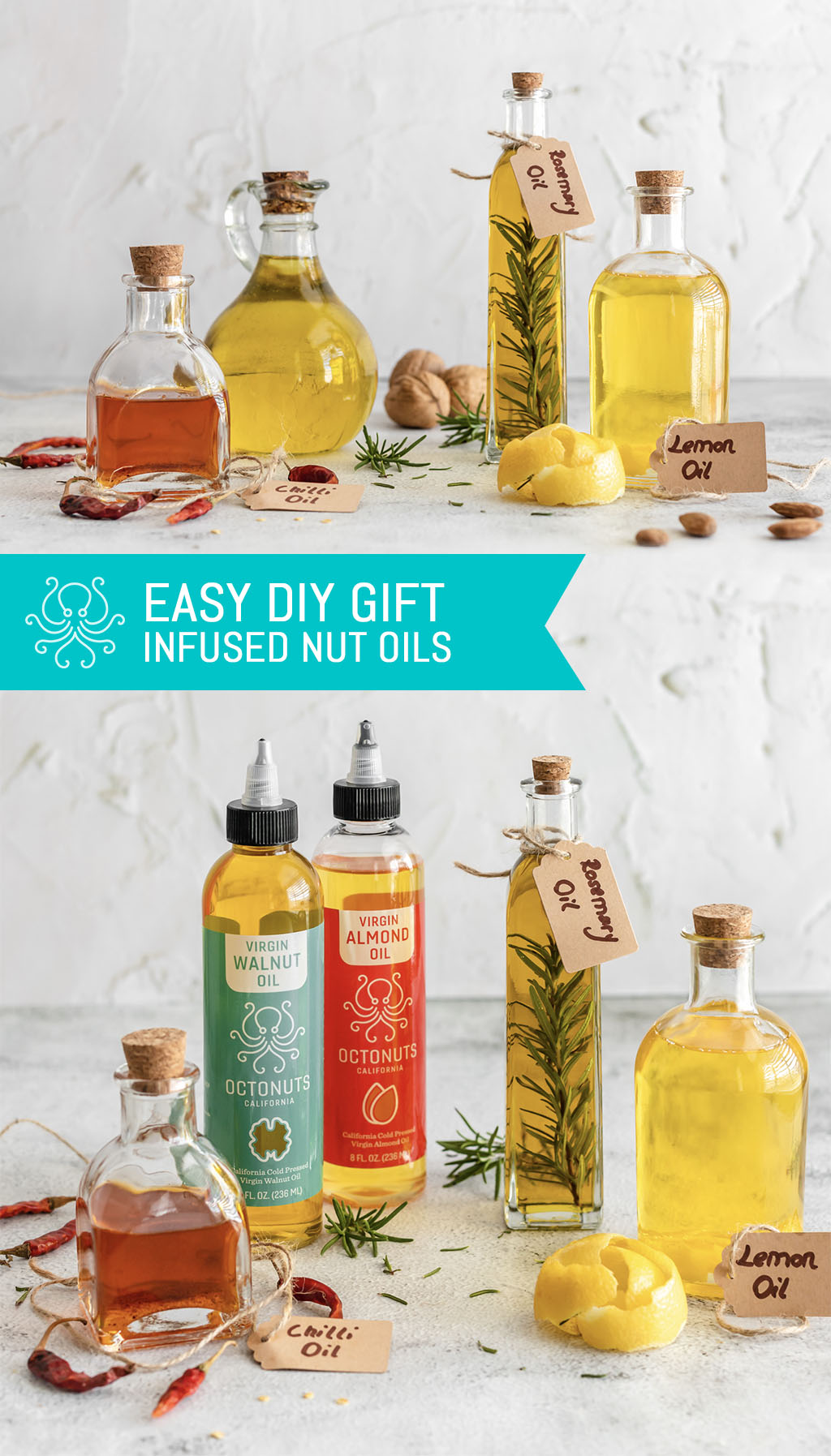 Easy DIY Gift: Infused Nut Oils