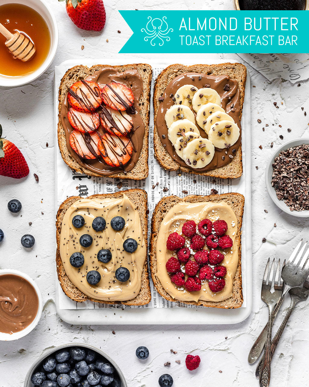 Almond Butter Toast Breakfast Bar