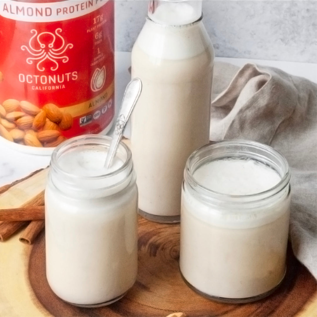 Easy Almond Milk Made with Octonuts Almond Protein Powder