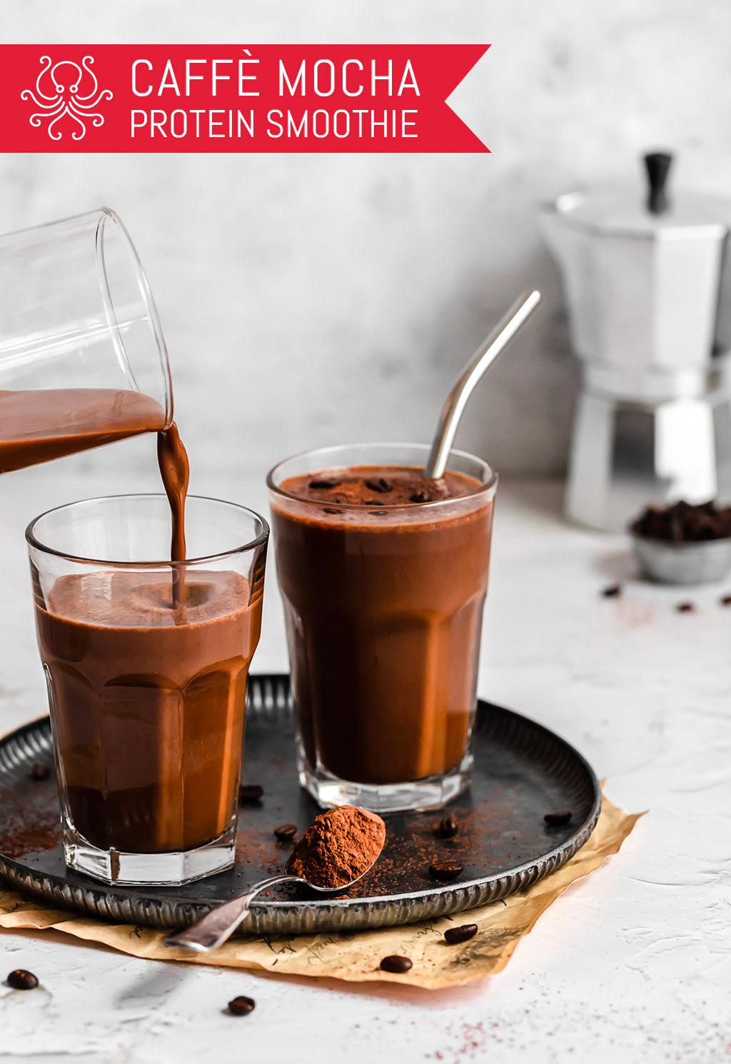 Caffè Mocha Protein Smoothie: A Better-for-You Frappuccino