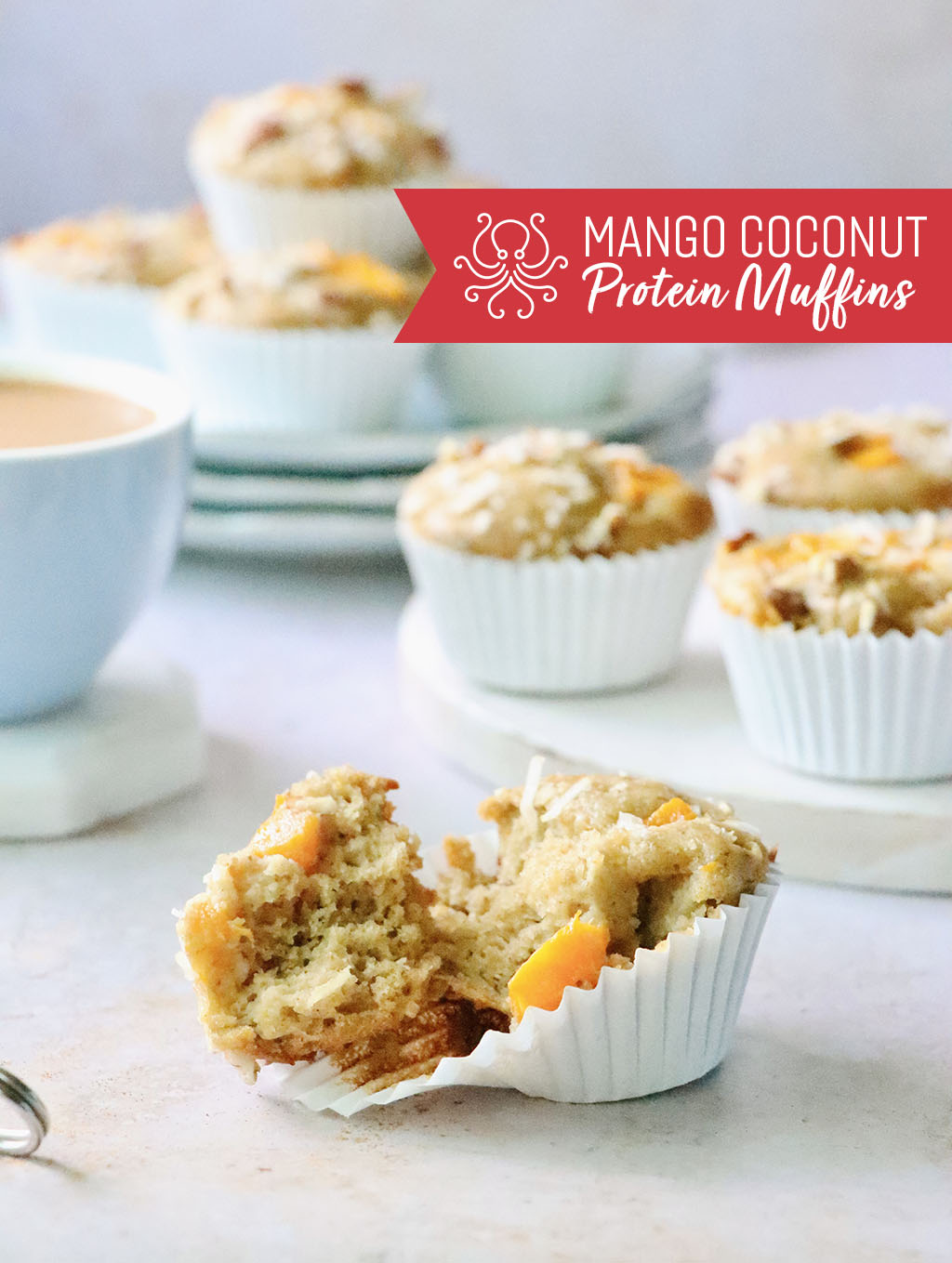 Mango Coconut Protein Muffins from Octonuts California
