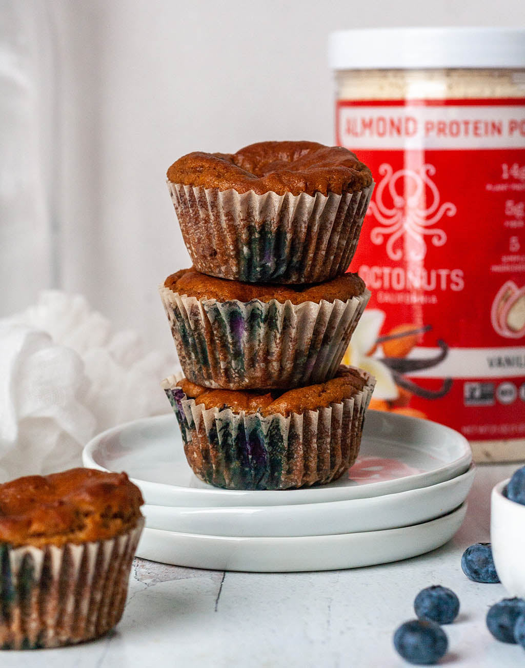 Octonuts Paleo Blueberry Protein Muffins