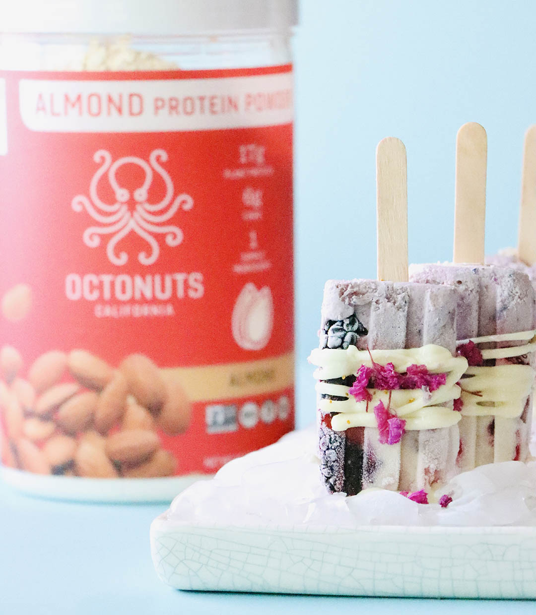 Protein Popsicles with Octonuts Almond Protein Powder