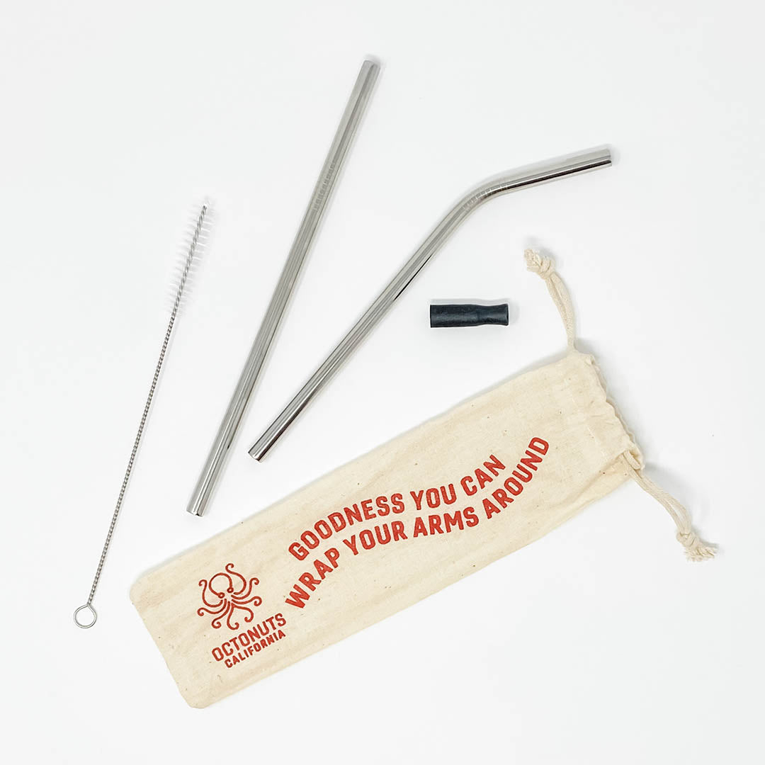 Octonuts Stainless Steel Straws