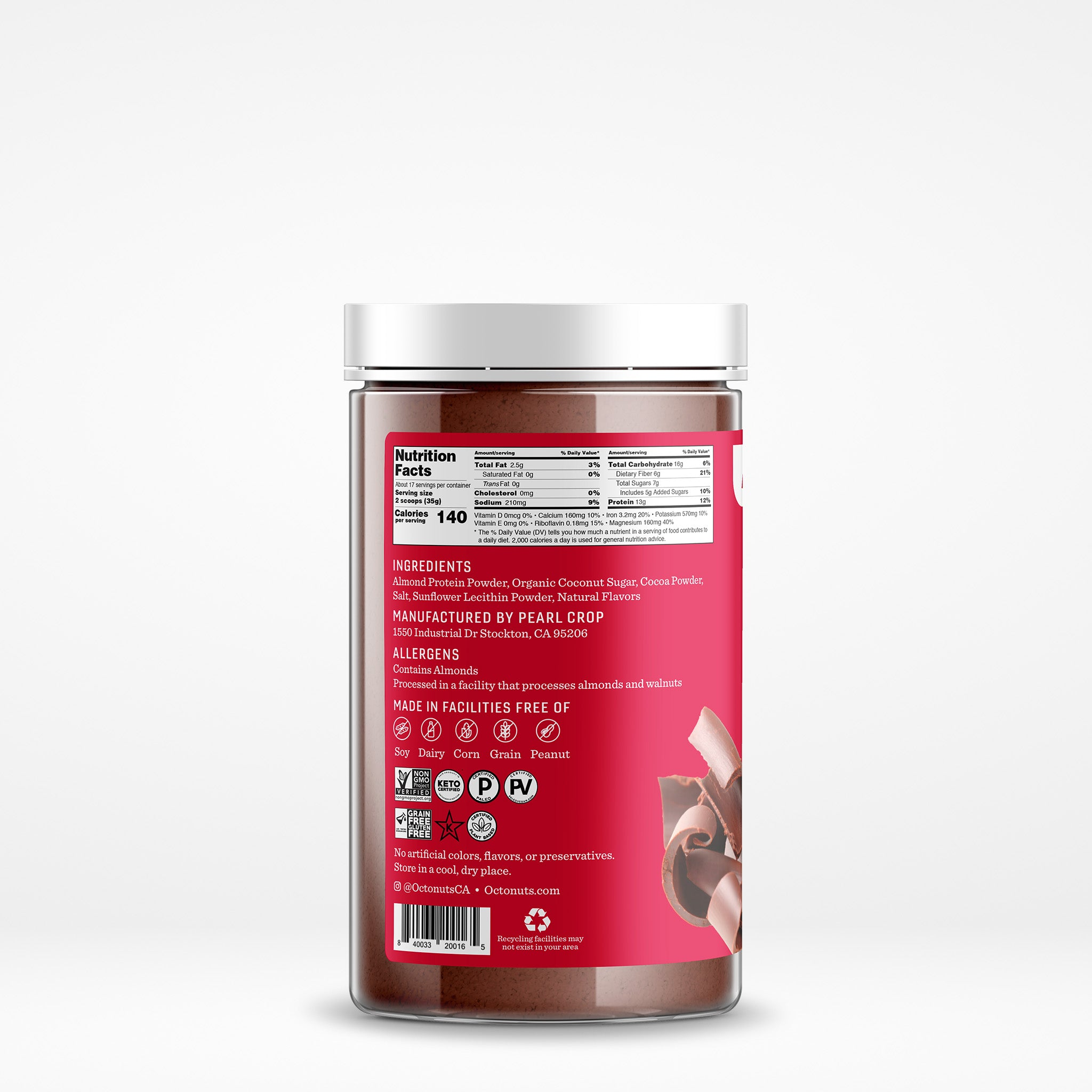 Chocolate Almond Protein Powder