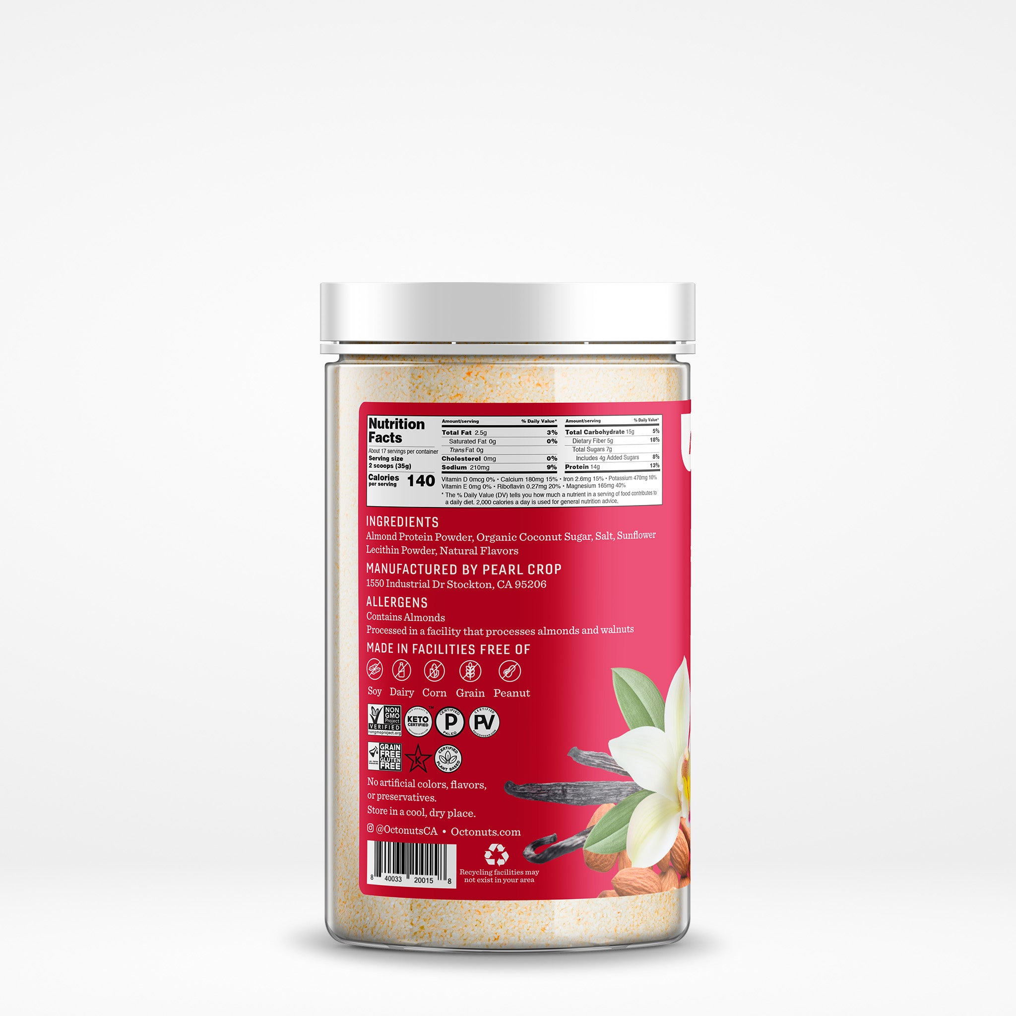 Vanilla Almond Protein Powder Octo-Pack