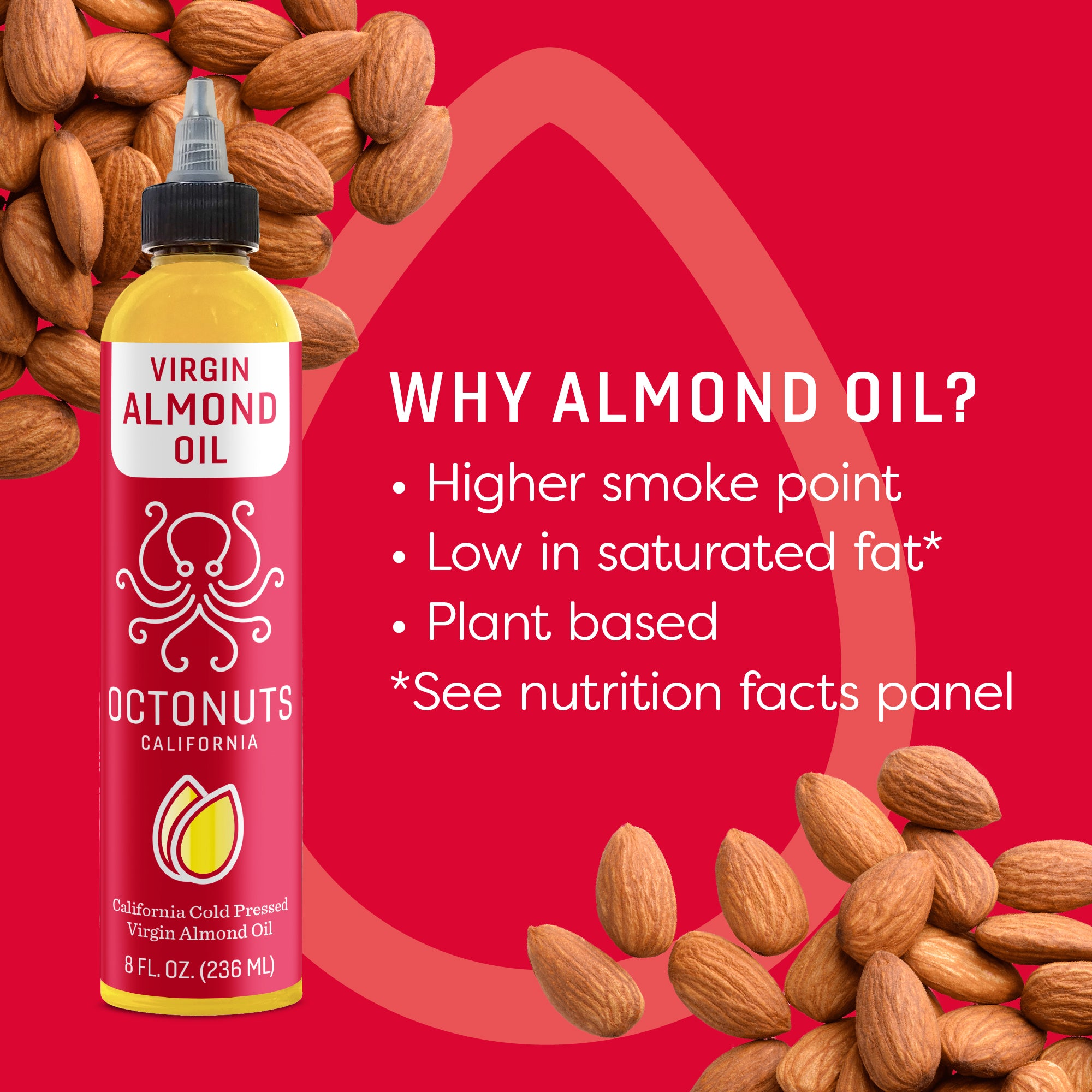 California Cold Pressed Virgin Almond Oil Octo-Pack