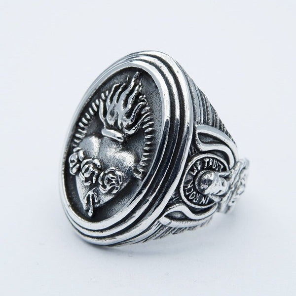 SACRED HEART ROCK RING