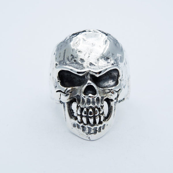 SIZZLED CLASSIC SKULL RING