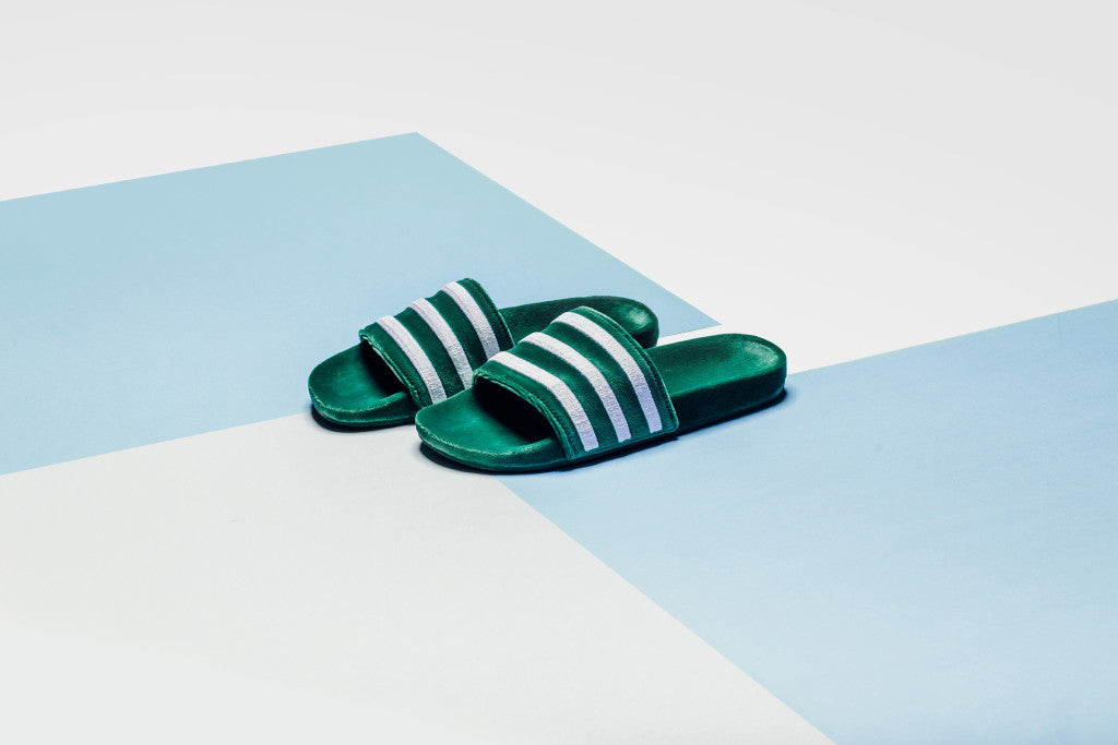 cheap for discount 4f8c7 5eea8 The most popular slide in the game, the Adidas Adilette (45) has been  given a velvet makeover for the upcoming season. The latest release  features a ...