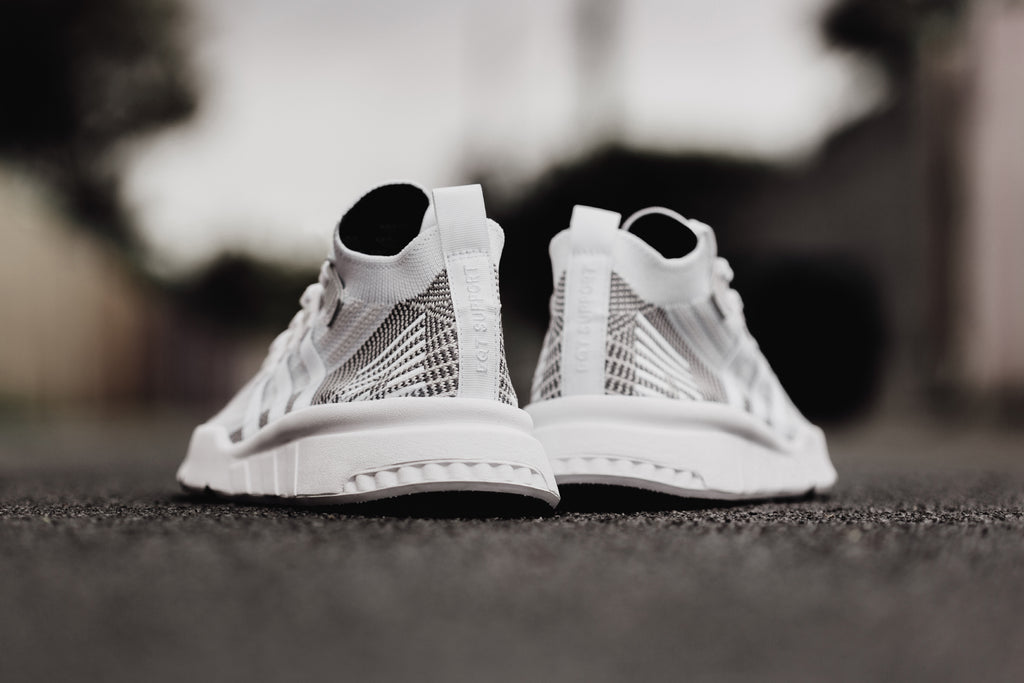 White Adidas Eqt Support Mid Adv Primeknit Feature Sneaker Boutique