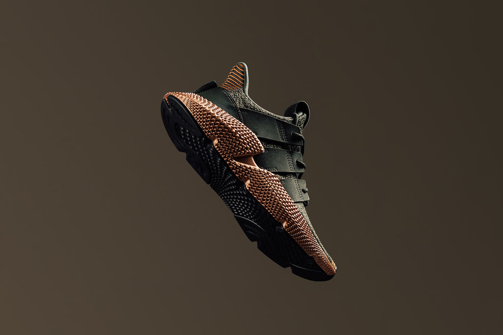 promo code aed68 9ca5b Adidas expands their women's collection with a new iteration to their  Prophere silhouette. With an uncharacteristically bulky outersole, thick  woven upper ...