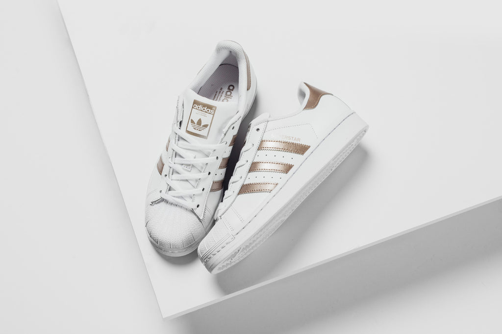 new products 9506a 389cb Adidas Originals Women's Superstar In White/Bronze – Feature