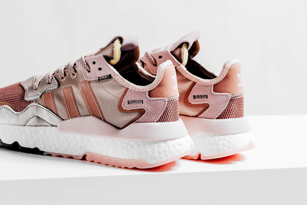 adidas originals nite jogger trainer in rose gold
