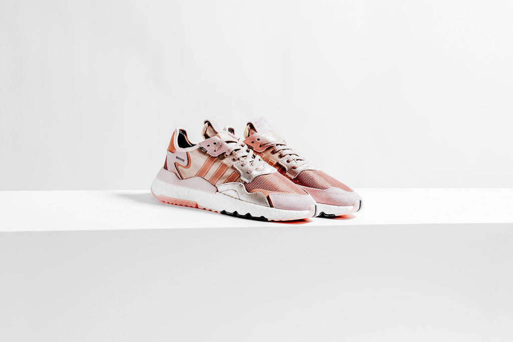 adidas nite jogger w rose gold metallic