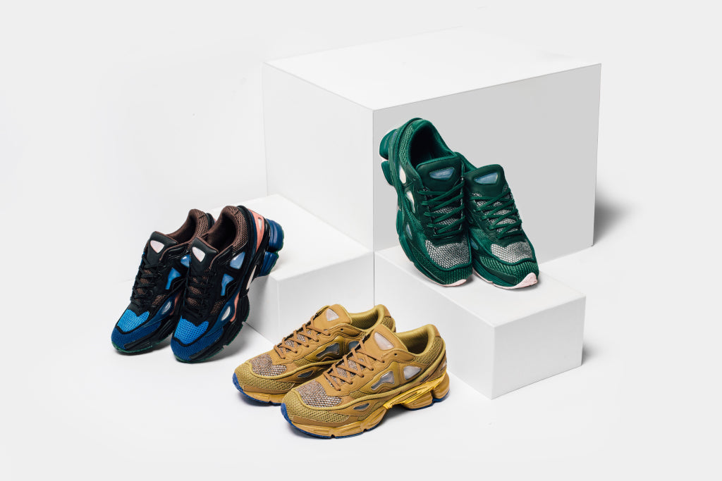 3270d65da3d Adidas partners up with Raf Simons Sneakers once again to bring three new  color ways to the Ozweego 2 ( 430). This collection showcases luxurious  details ...