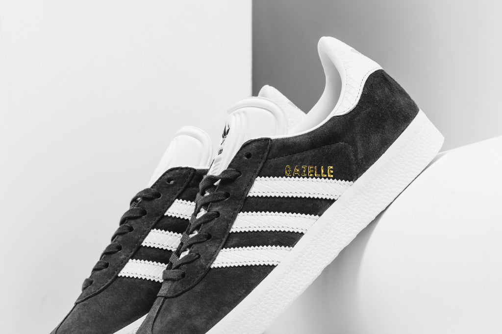 Adidas Women's Gazelle In Utility Black/White Available Now – Feature