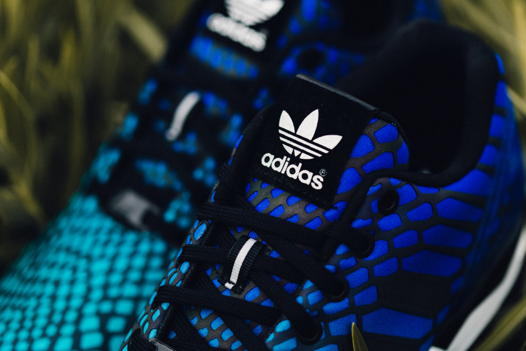 newest 276fe 8d954 Adidas Originals ZX Flux 'Xeno' In Blue/Core Black Available ...