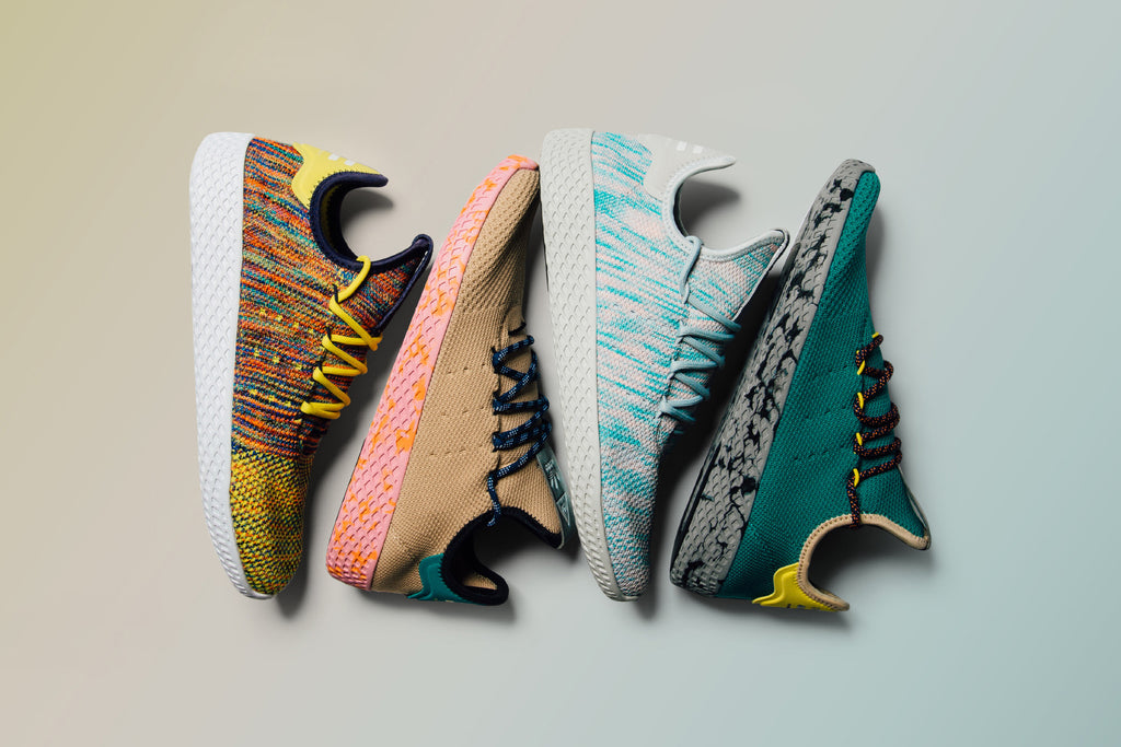 adidas Originals and Pharrell Williams s deliver four new iterations to  their Tennis Hu collection ( 130). The newly-released model grabs  inspiration from ... 9b42b0b9e