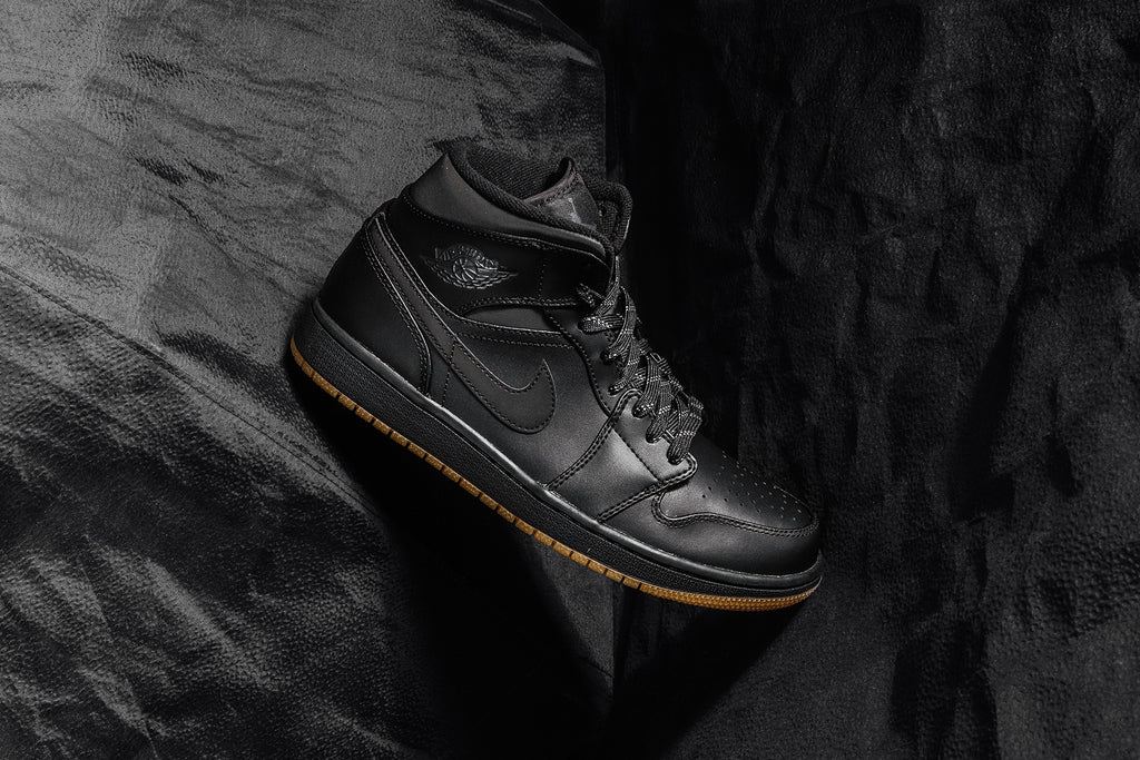 Air Jordan 1 Mid  Winterized  In Black Anthracite Available Now – Feature  Sneaker Boutique a5a85c6c1