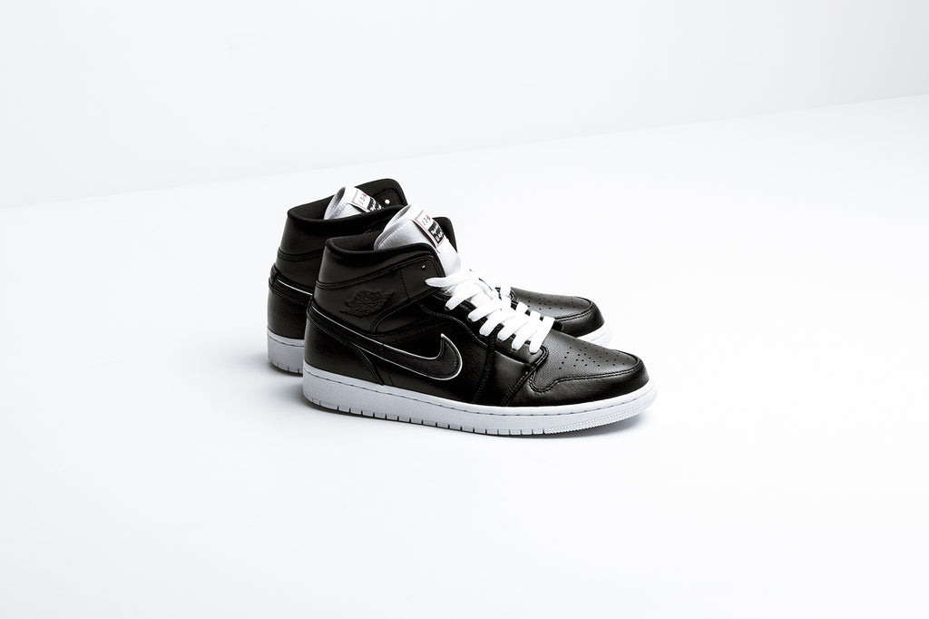 bd49d215c84 Jordan brand presents a luscious leather rendition of the Air Jordan 1 Mid,  borrowing the aesthetic of the classic Air Jordan 1 with a mid centric cut  ...