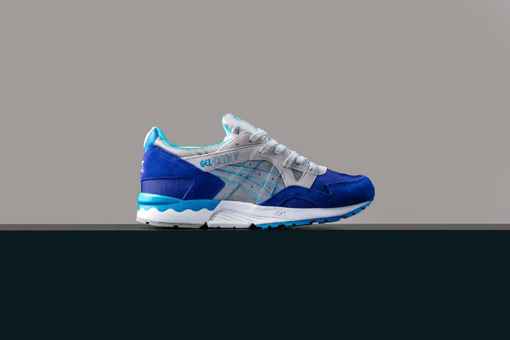 Asics Gel Lyte V in Dark BlueLight Grey Available Now </p>                     </div> 					<!--bof Product URL --> 										<!--eof Product URL --> 					<!--bof Quantity Discounts table --> 											<!--eof Quantity Discounts table --> 				</div> 			</dd> 						<dt class=