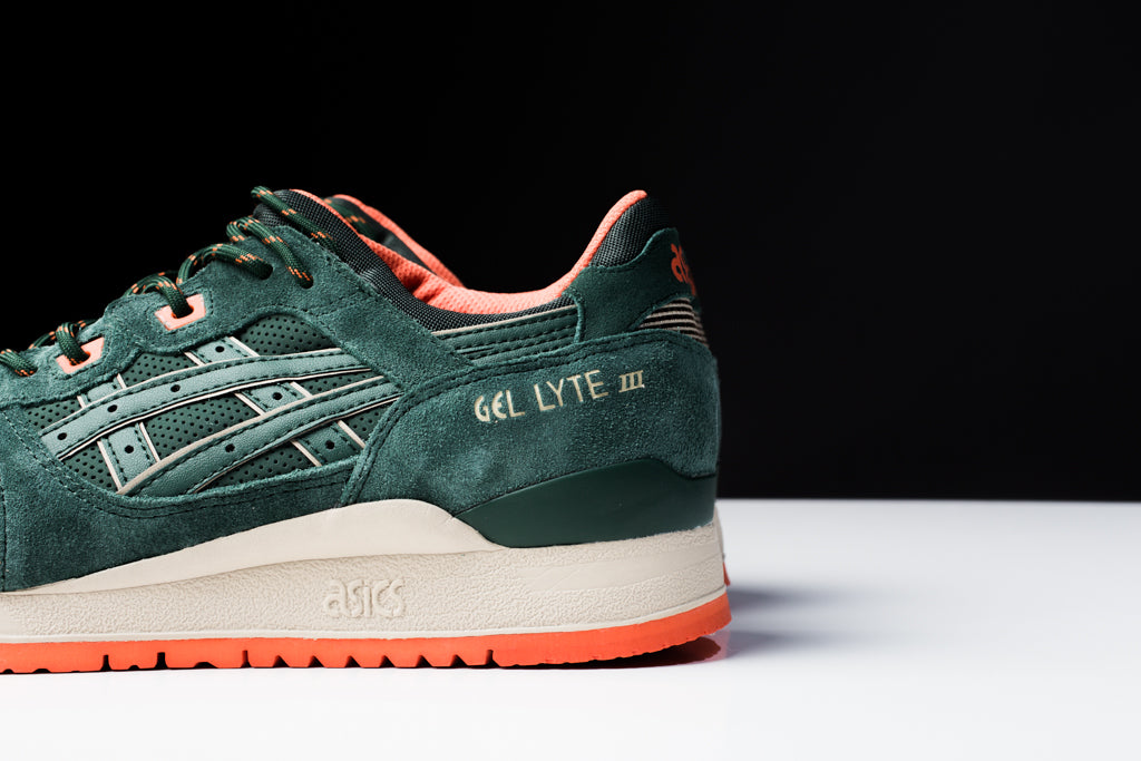 Asics Gel Lyte III Dark Green Orange Available Now – Feature Sneaker ... 37adc5fc43