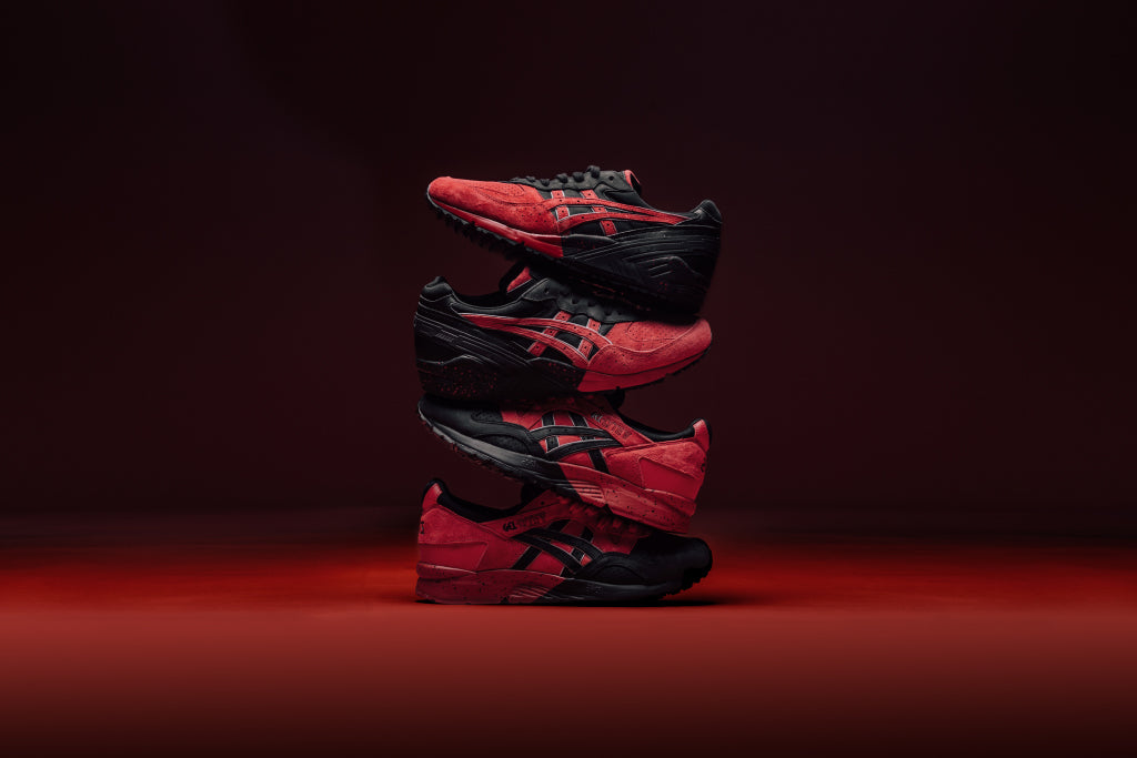 "cdf0f3cfea28 Asics takes inspiration from Spain s annual celebration for its brand new "" Bulls of Pamplona"" pack. The collection includes a Gel-Lyte V ( 130) and ..."