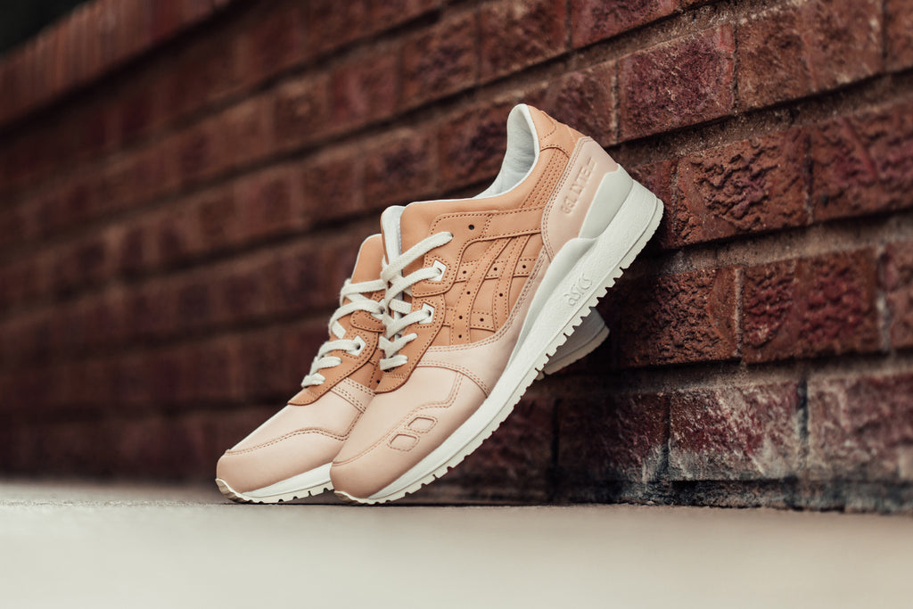 Tan Leather Heels Provide A Touch Of Luxury On This Asics