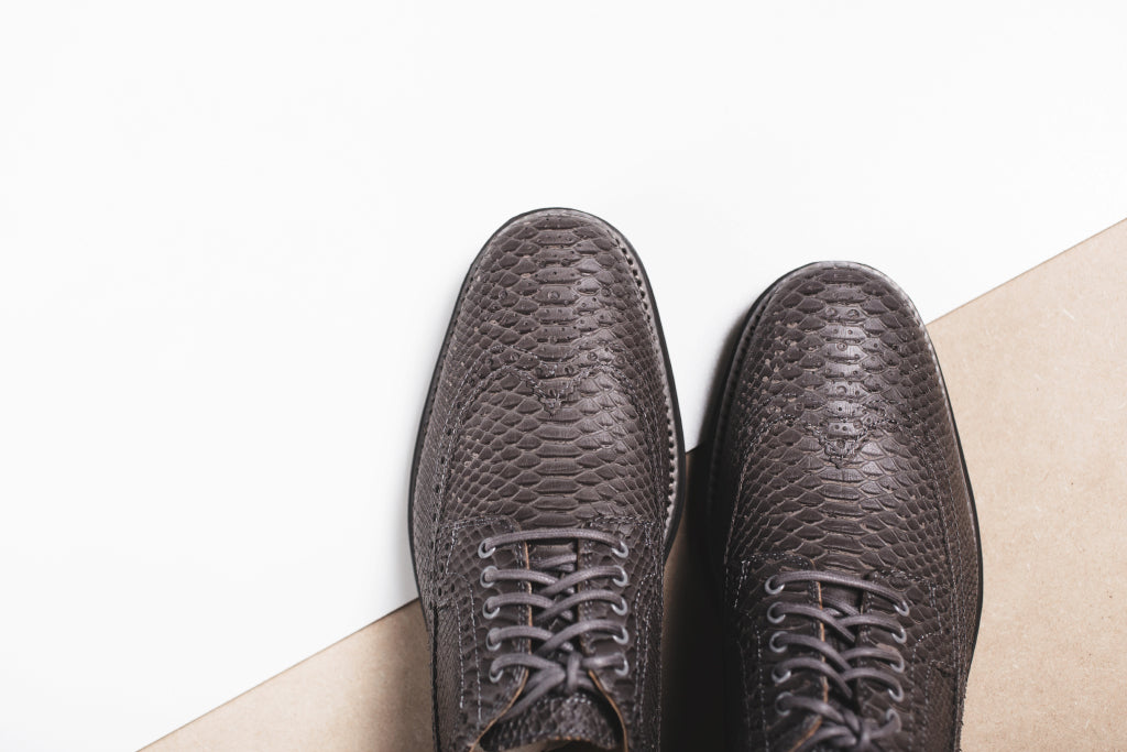 Cole Haan Lunargrand Long Wingtip Grey Snake Print Available Now ... 9a81dc9f13