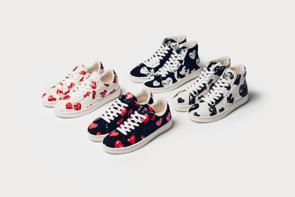 7698045c4e3896 Converse x Comme Des Garcons PLAY Pro Leather Collection Available Now –  Feature Sneaker Boutique