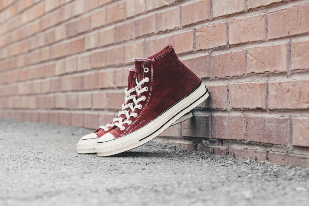 26ba40be8906 Converse Chuck Taylor All Star  70 Hi Suede In Red Dahlia Available No