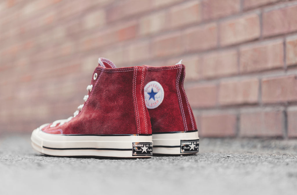 9dab6b609252 Converse Chuck Taylor All Star  70 Hi Suede In Red Dahlia Available Now