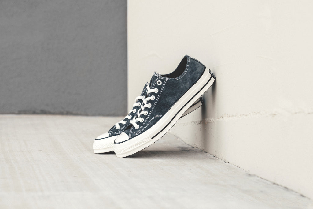 6024ddb7e5c5 Converse Chuck Taylor All Star  70 Low Suede In Charcoal Black Availab