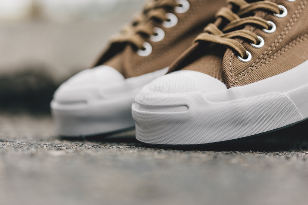 bcf38d855cd8a2 Converse Jack Purcell Signature Low in Sand Dune Available Now