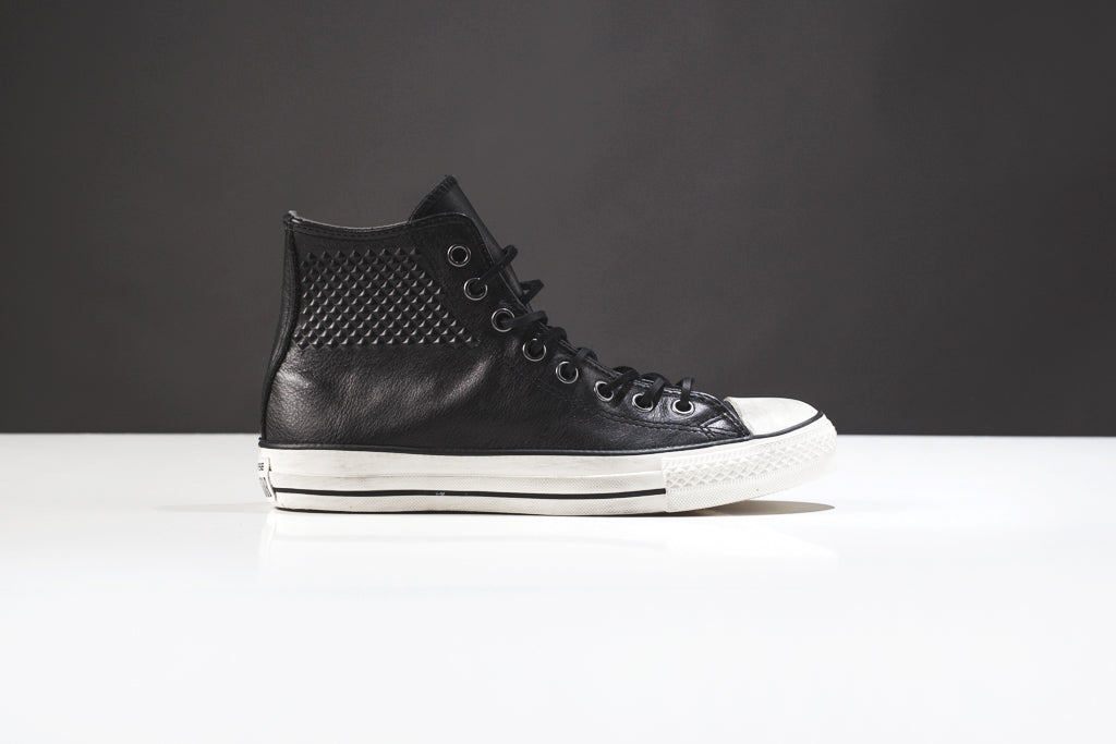 new style 4b02e 12704 Adding onto their strong John Varvatos collection, Converse brings us the Studded  Chuck Taylor Hi ( 145). The classic hi-top gets a high fashion redesign ...