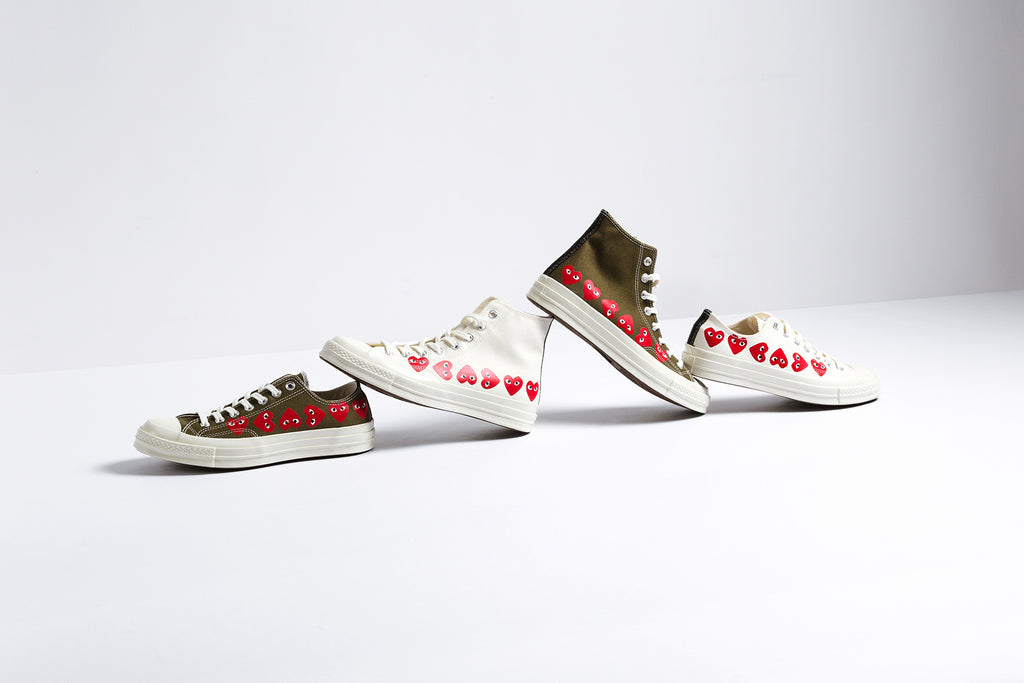 6d91681373bc15 Converse x Comme Des Garcons PLAY All Star Chuck Collection Available –  Feature Sneaker Boutique