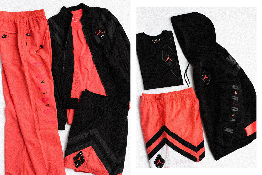 16d3a070589997 Jordan Brand tailors unique apparel and accessories for the upcoming Jordan  Infrared 6 model ( 40- 125). The collection ranges from tees and shorts to  nylon ...