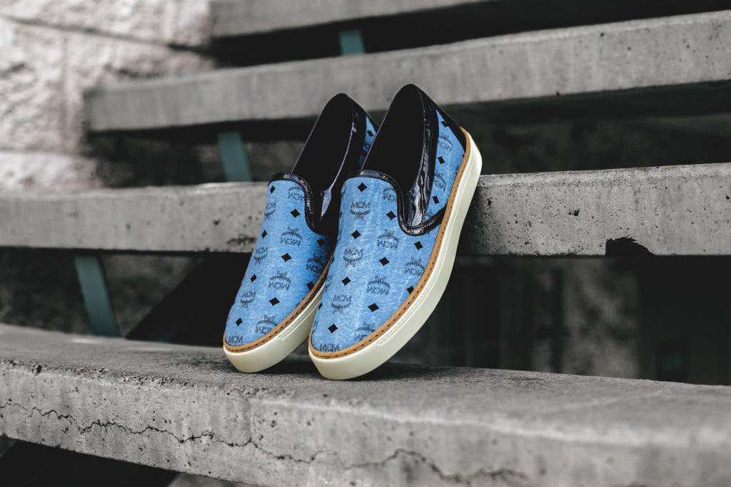 MCM continues to expand their footwear collection with a new colorway to  their traditional slip-on ( 495). The low top silhouette features a  predominant ... 36d4f99f2d9e
