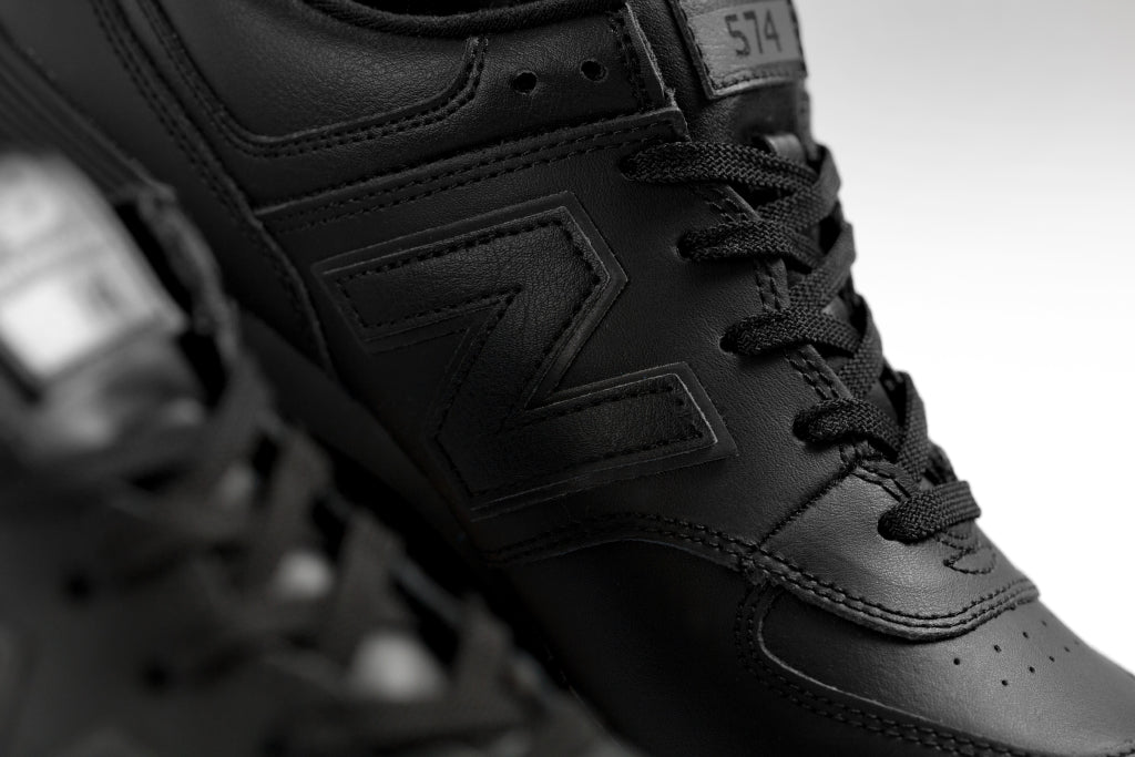 new balance 574 all black leather