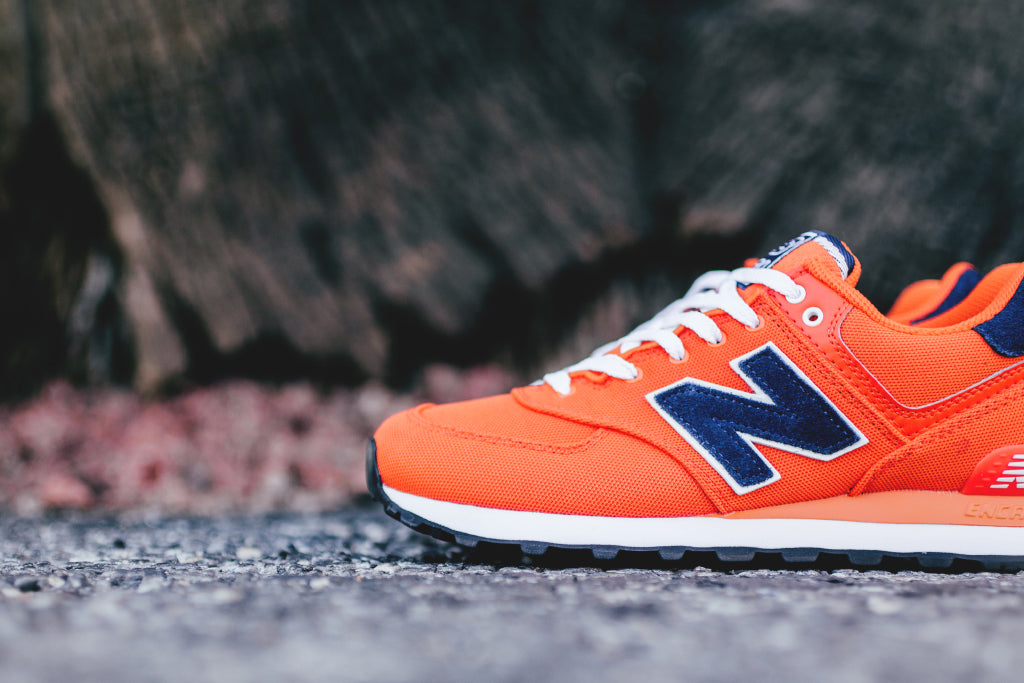 new balance 574 pique polo red