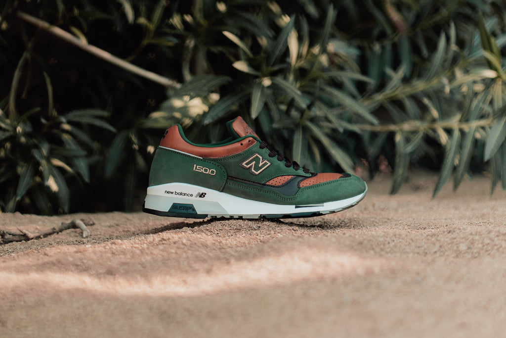 pretty nice 0897f 46572 Celebrating UK craftsmanship with style, the latest New Balance 1500GT  features a dark green and tan construction ( 220).