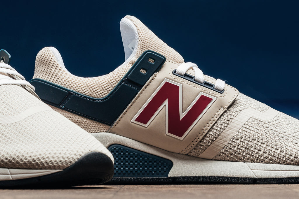 new balance 247 grey morn with team red