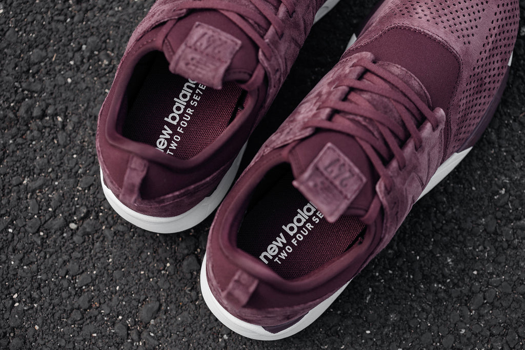 great quality biggest discount to buy New Balance 247LR In Burgundy/White Available Now – Feature