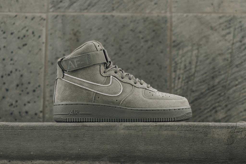 brand new 5ea6d 856b1 Nike s Air Force 1 High ( 110) makes an appearance in this season s lineup  with another premium, yet subtle design. The latest rendition ops for a  suede ...