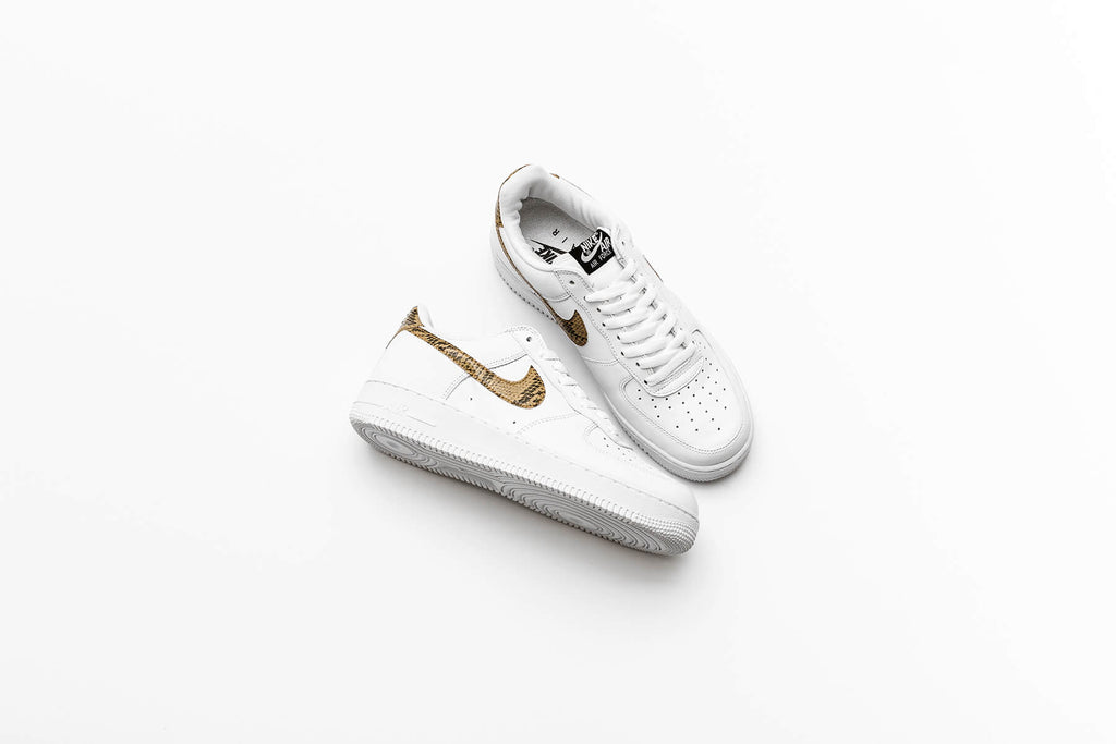 official photos a1593 4370c Nike Air Force 1 Low Retro PRM QS  Ivory Snake
