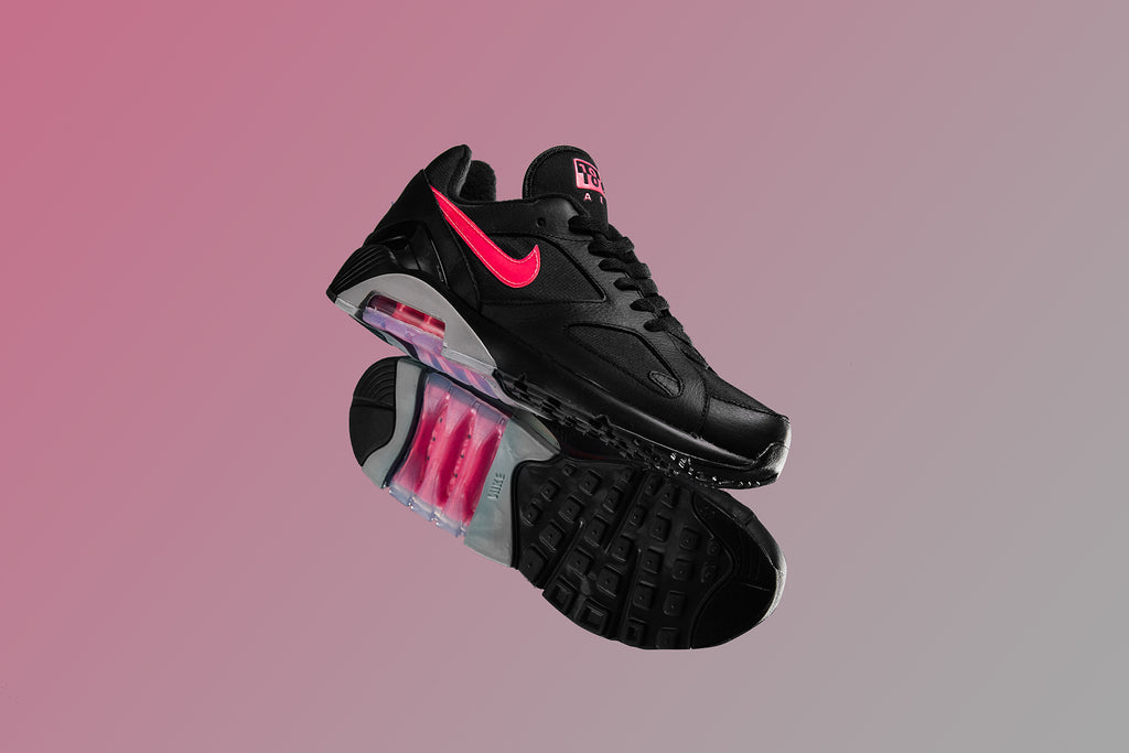 6631062bf3 Nike presents a new colorful rendition of the classic Air Max 180  silhouette -featuring a primarily black upper with